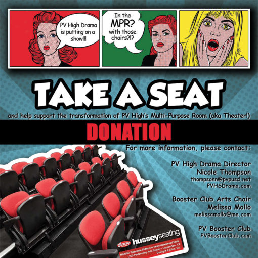 Donation: Take a Seat for PVHS Drama