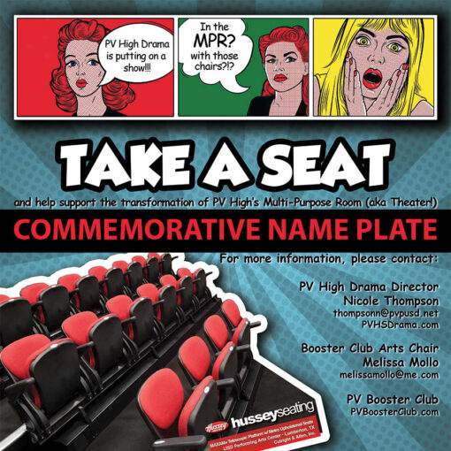 Donation: Take a Seat for PVHS Drama - Name plate